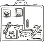 briefcase, purse, organization, paperwork, business, work, what in your bag, essentials,