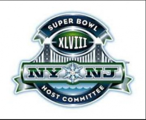 The logo for the 2014 Super bowl. Superbowl 48 will be the first outdoor, cold-weather edition of the championship.